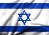 3d bandera de israel satinado — Foto de Stock