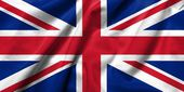 3D Flag of UK satin — Stok fotoğraf