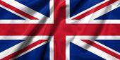 3d bandeira do reino unido cetim — Foto Stock