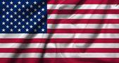 米国のサテンの 3 d の旗 — ストック写真