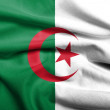 3D Flag of Algeria satin — Stock Photo