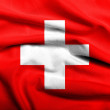 3D Flag of Switzerland satin — Stock Photo