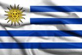 3D Flag of Uruguay satin — Stock Photo