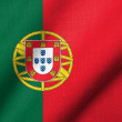 图库照片: 3D Flag of Portugal waving