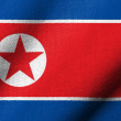 Stock Photo: 3D Flag of North Korea waving