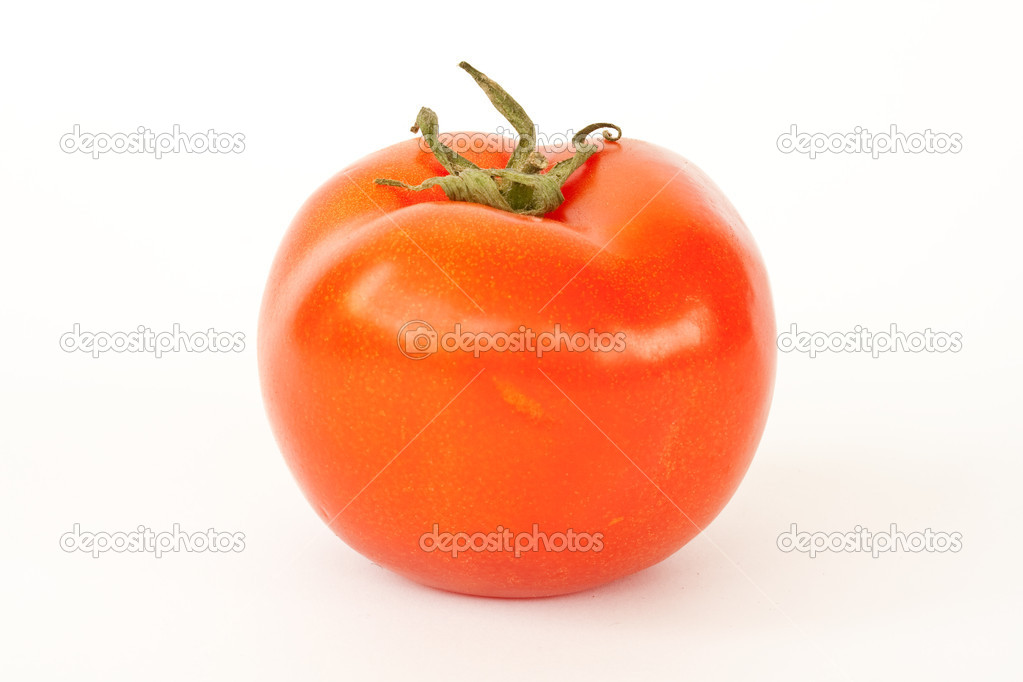 Red fresh tomato on white background — Stock Photo #2810499