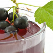 Juice from a black currant — Stock Photo