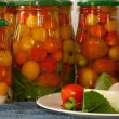 Foto de Stock  : Marinated tomatoes