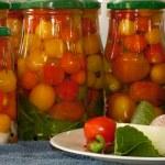 Marinated tomatoes — Stock Photo