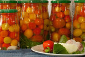 Marinated tomatoes — Stock Photo