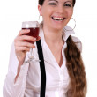 Girl with wineglass — Stock Photo #2868001