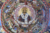 Orthodox monastery - fresco — Stock Photo