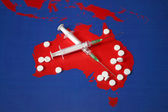 Map with tabletes, syringes and needles — Stock Photo