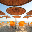Stock Photo: Greece, umbrellas and sunbeds