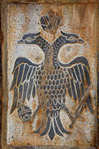 Greece, two headed eagle relief — Stock Photo
