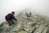 Mountaineers in Slovakia — Stock Photo