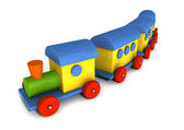 Wood toy train — Stock Photo