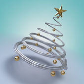Modern christmas tree — Stock Photo