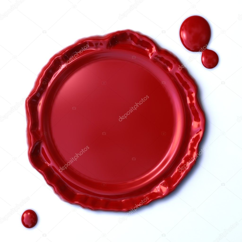 Isolated red wax seal on white background — Stock Photo #2895943
