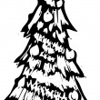 Woodcut Christmas Tree — Vetorial Stock #2852695