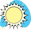 Retro Sun — Stock Vector