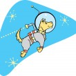 SpaceDog with Jetpack — Stock Vector