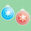 Snowflake Christmas Ornaments #2 — Stock Vector