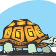 Happy box turtle - Imagen vectorial