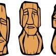 Royalty-Free Stock Vector Image: Group of Moai