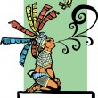 Mayan Storyteller - Stock Vector