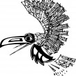 Flying Raven — Stock Vector