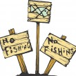 No fishing — Stock Vector