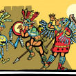 Mayan Battle — Stock Vector