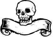 Banner Skull #1 — Vector de stock