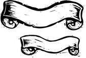 Dois bannerscrânio de rolagem — Vetorial Stock