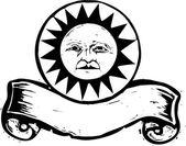 Sun Banner #1 — Stockvektor
