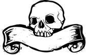 Banner Skull #2 — Stock Vector