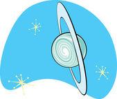 Retro Planet Uranus — Stock Vector