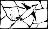 企鹅游泳 — 图库矢量图片