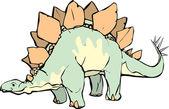 Stegosaurus — Stok Vektör