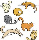 Birkaç kedi — Stok Vektör