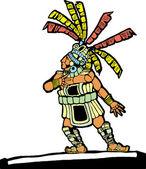 Mayan Ballplayer #1 — Stock Vector