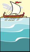 Greek Warship — Stock Vector