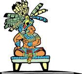 Mayan King #2 — Stock Vector