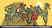 Mayan Battle — Stock Vector