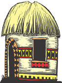 African hut — Vector de stock