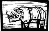African Rhino — Stock Vector