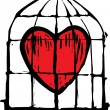 Royalty-Free Stock Vector Image: Heart in Cage