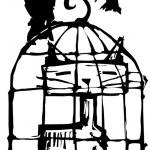 Cat in Birdcage #1 — Stock Vector