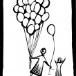 Balloon Give - Image vectorielle